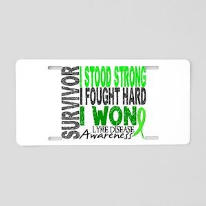 Lyme Disease Survivor 4 Aluminum License Plate