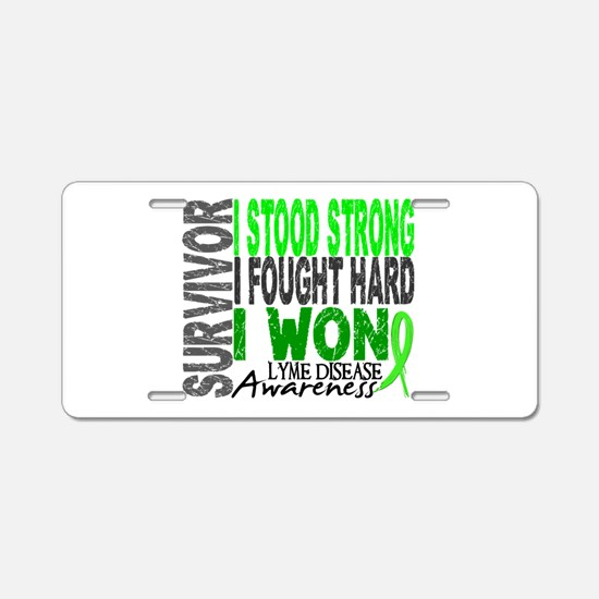 Lyme Disease Survivor 4 Aluminum License Plate