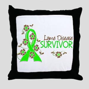 Lyme Disease Survivor 3 Throw Pillow