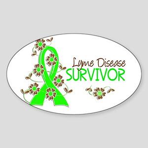 Lyme Disease Survivor 3 Sticker (Oval)