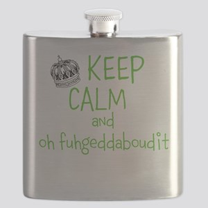 keep calm and oh fuhgeddaboudit Flask