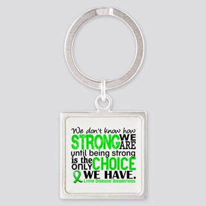 Lyme Disease HowStrongWeAre1 Square Keychain