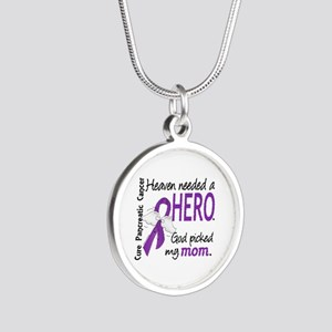 Pancreatic Cancer Heaven Nee Silver Round Necklace