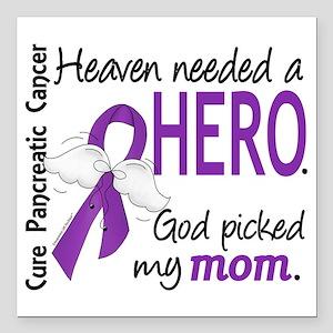 "Pancreatic Cancer Heaven Square Car Magnet 3"" x 3"""