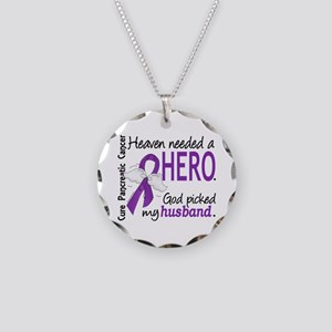 Pancreatic Cancer Heaven Nee Necklace Circle Charm