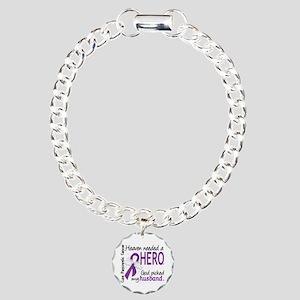 Pancreatic Cancer Heaven Charm Bracelet, One Charm