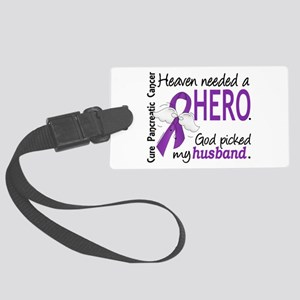 Pancreatic Cancer Heaven Needed Large Luggage Tag