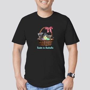 Australian Easter Bask Men's Fitted T-Shirt (dark)