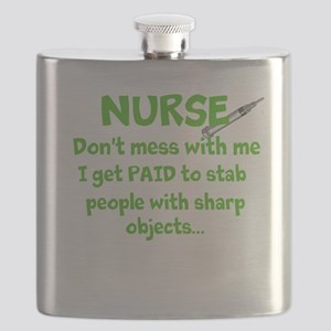 Nurse don't mess with me/green Flask