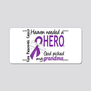 Pancreatic Cancer Heaven Ne Aluminum License Plate