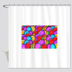 Colored Easter Eggs Shower Curtain