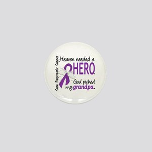 Pancreatic Cancer Heaven Needed Hero 1 Mini Button