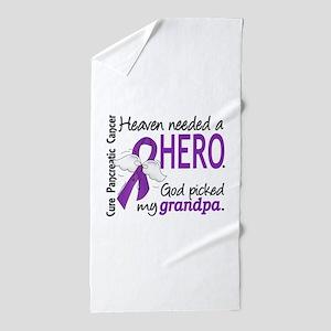 Pancreatic Cancer Heaven Needed Hero 1 Beach Towel