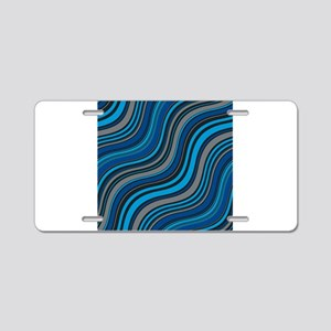 Blue Waves Aluminum License Plate