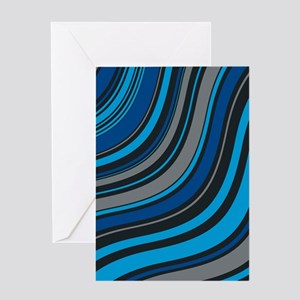 Blue Waves Greeting Cards