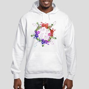 Floral Flower Hooded Sweatshirt