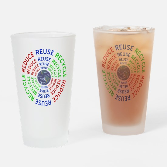 Reduce Reuse Recycle with Earth Drinking Glass