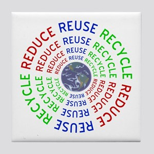 Reduce Reuse Recycle with Earth Tile Coaster