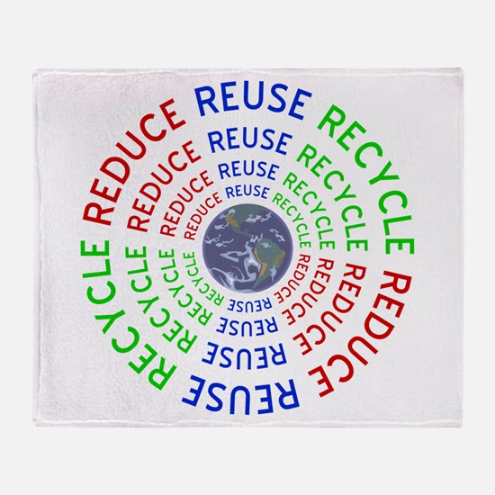 Reduce Reuse Recycle with Earth Throw Blanket