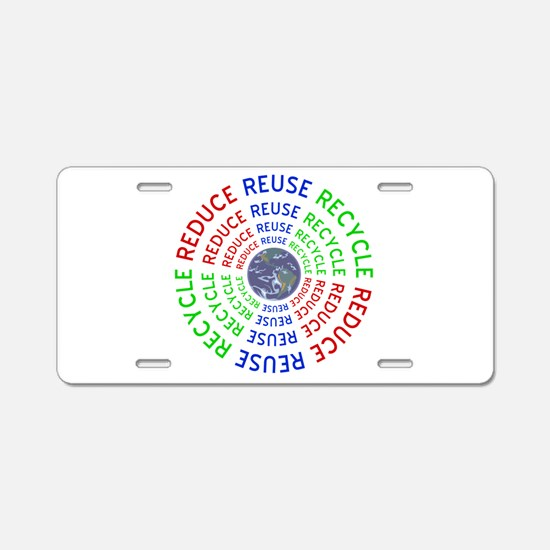 Reduce Reuse Recycle with E Aluminum License Plate