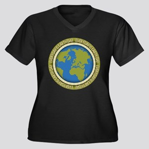 Everyday is Women's Plus Size V-Neck Dark T-Shirt
