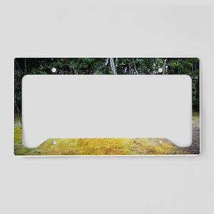 moss garden License Plate Holder