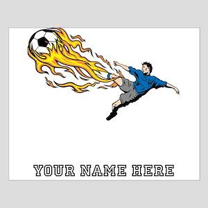 Custom Flaming Soccer Kick Posters