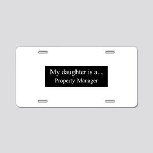 Daughter - Property Manager Aluminum License Plate