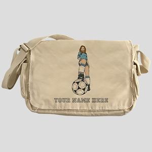 Custom Soccer Girl Messenger Bag