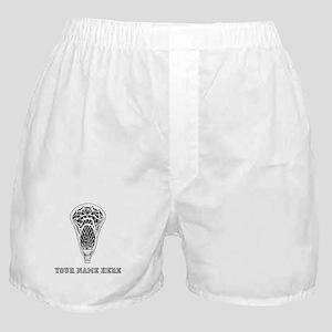 Custom Lacrosse Stick Head Boxer Shorts