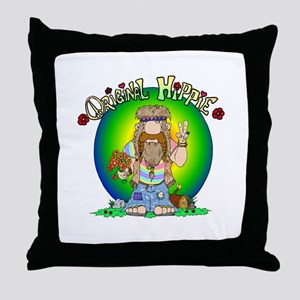 The Original Hippie Throw Pillow