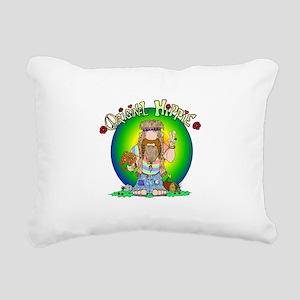 The Original Hippie Rectangular Canvas Pillow