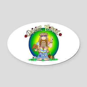 The Original Hippie Oval Car Magnet