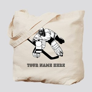 Custom Hockey Goalie Tote Bag