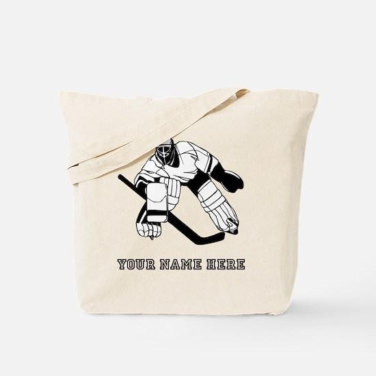 Custom Hockey Goalie Tote Bag