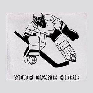 Custom Hockey Goalie Throw Blanket