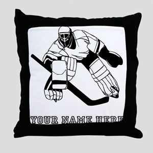 Custom Hockey Goalie Throw Pillow