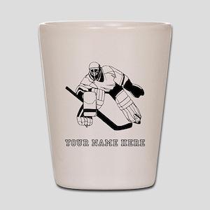 Custom Hockey Goalie Shot Glass