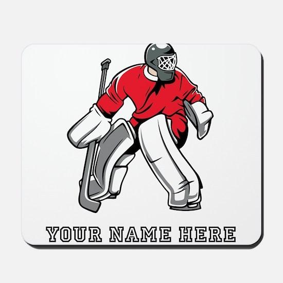 Custom Hockey Goalie Mousepad