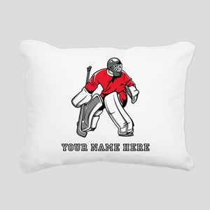 Custom Hockey Goalie Rectangular Canvas Pillow