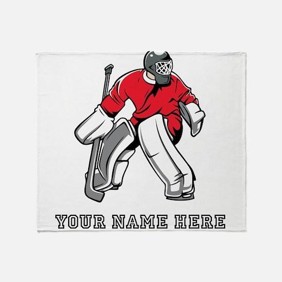 Custom Hockey Goalie Throw Blanket
