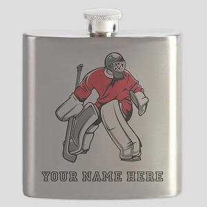 Custom Hockey Goalie Flask