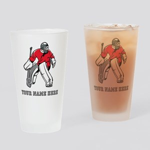 Custom Hockey Goalie Drinking Glass