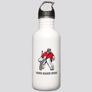 Custom Hockey Goalie Water Bottle