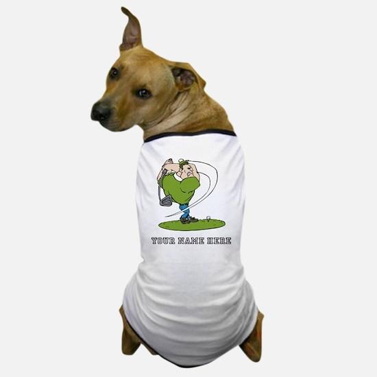 Custom Cartoon Golfer Dog T-Shirt