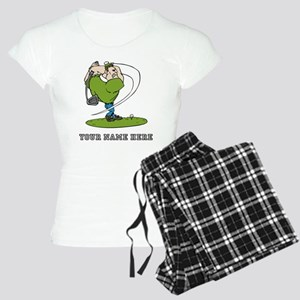 Custom Cartoon Golfer Pajamas