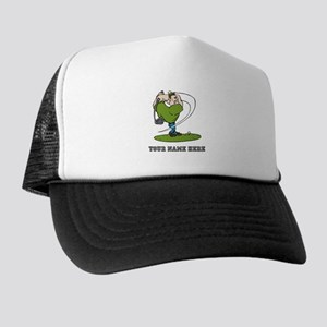 02711fe012eb5 Custom Cartoon Golfer Trucker Hat