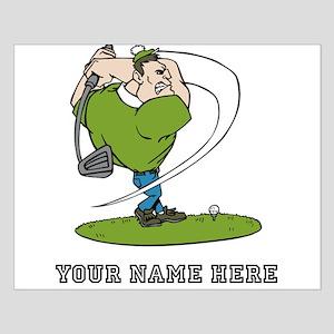 Custom Cartoon Golfer Posters