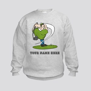 Custom Cartoon Golfer Sweatshirt