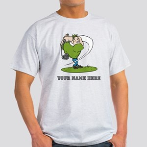 Custom Cartoon Golfer T-Shirt